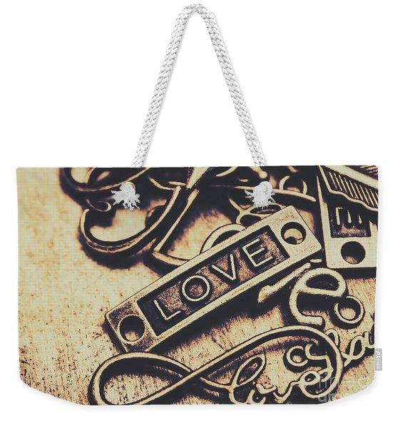 Rustic Love Icons Weekender Tote Bag