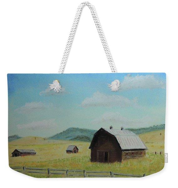 Rustic Montana Barn Weekender Tote Bag