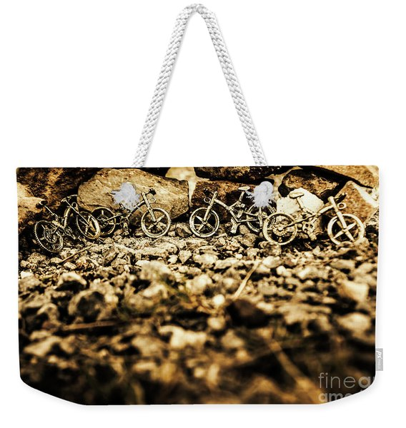 Rustic Mountain Bikes Weekender Tote Bag