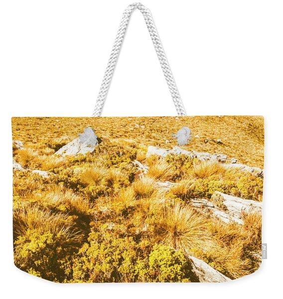 Rustic Mountain Terrain Weekender Tote Bag