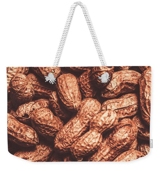 Rustic Nuts Background  Weekender Tote Bag