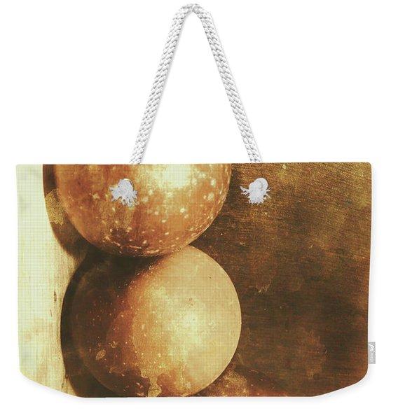 Rustic Old Apple Box Weekender Tote Bag