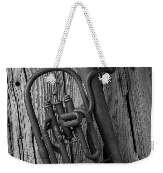 Rustic Old Horn Weekender Tote Bag