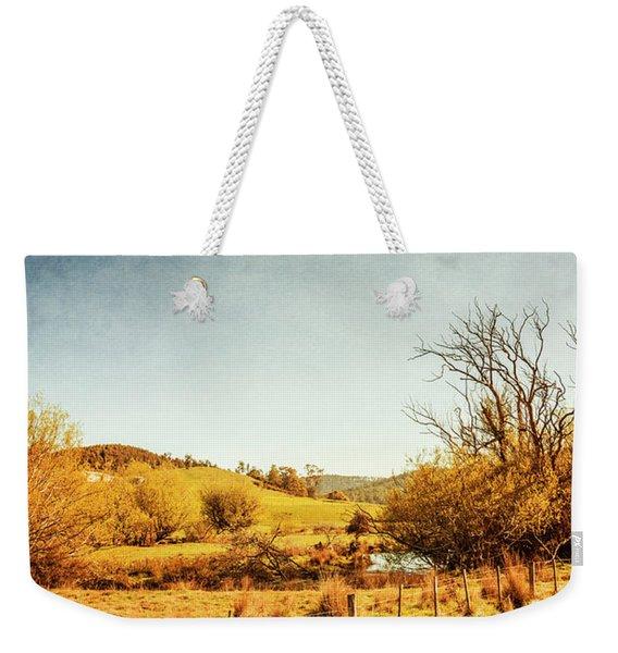 Rustic Pastoral Australia Weekender Tote Bag