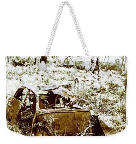 Rustic Rural Decay Weekender Tote Bag