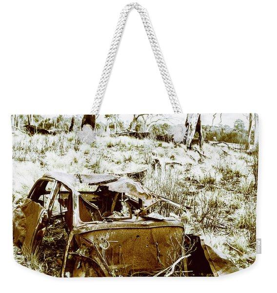 Rustic Rural Decay Weekender Tote Bag