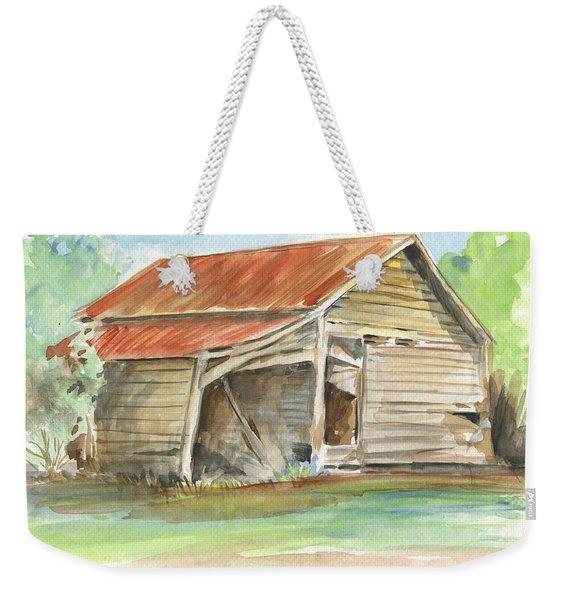 Rustic Southern Barn Weekender Tote Bag