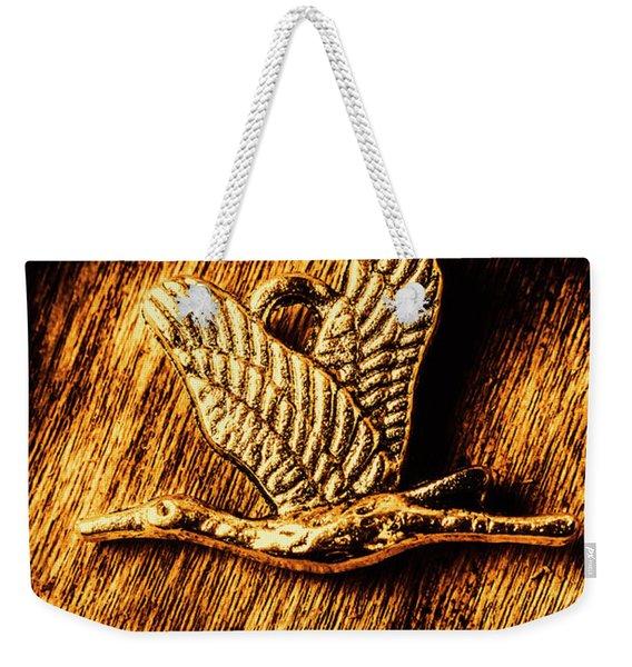 Rustic Stork Pendant Weekender Tote Bag