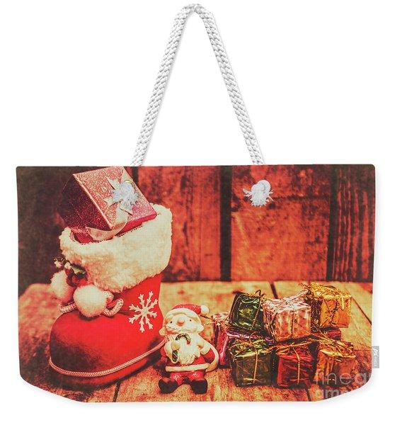 Rustic Xmas Decorations Weekender Tote Bag