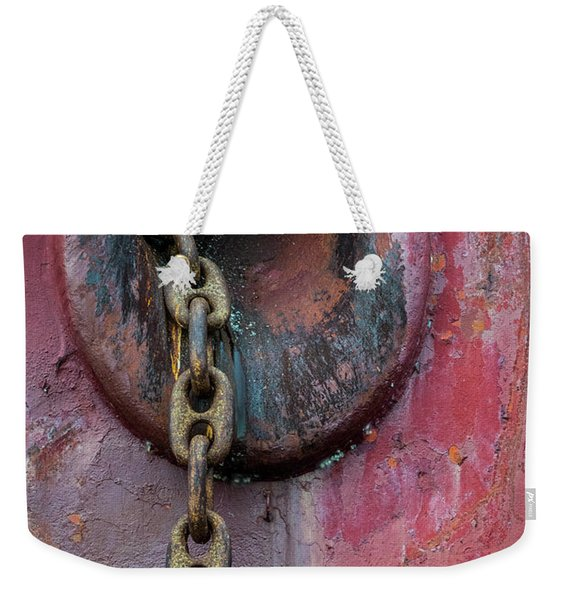 Rusty Anchor Chain Weekender Tote Bag