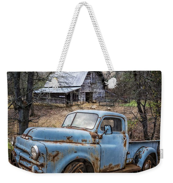Rusty Blue Dodge Weekender Tote Bag