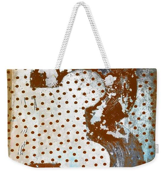 Rusty Metal Number Three Weekender Tote Bag