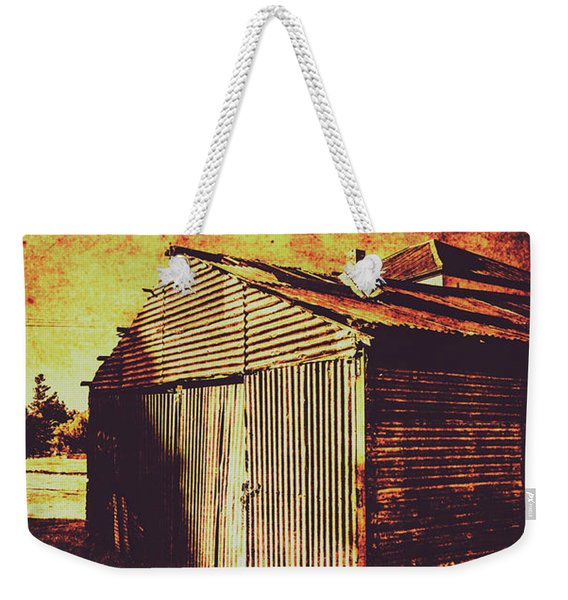 Rusty Outback Australia Shed Weekender Tote Bag