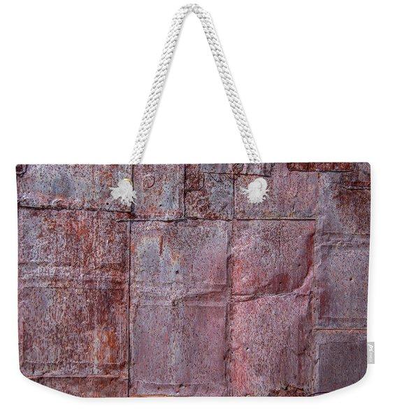 Rusty Patchwork Weekender Tote Bag