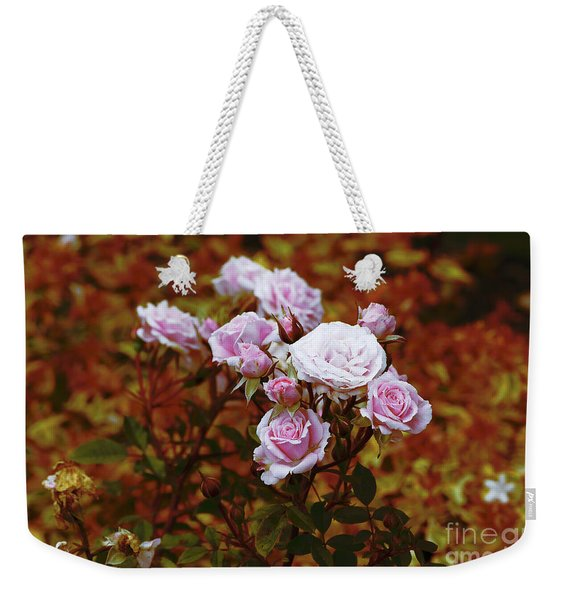 Rusty Romance In Pink Weekender Tote Bag