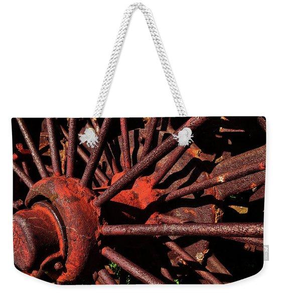 Rusty Wheel Weekender Tote Bag