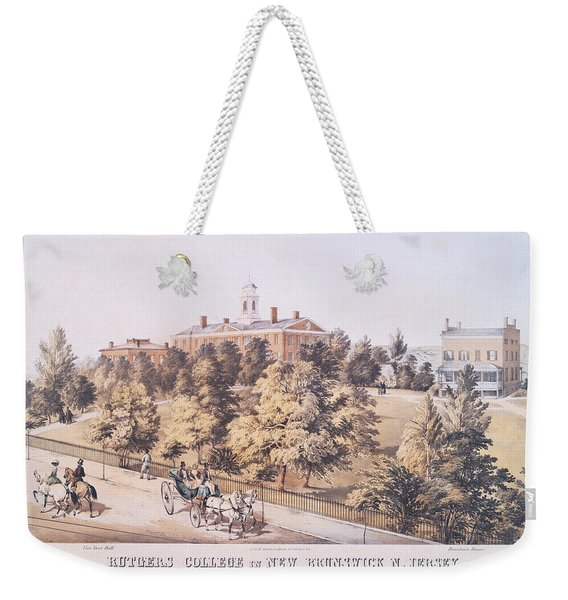 Rutgers College In New Brunswick New Jersey 1849 Weekender Tote Bag