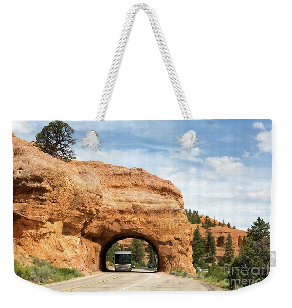 Rv Red Canyon Tunnel Utah Weekender Tote Bag