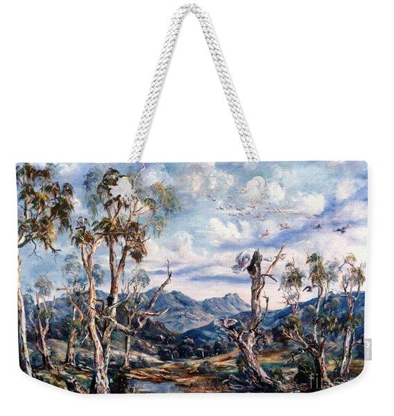 Rwetyepme, Mount Sonda Central Australia Weekender Tote Bag
