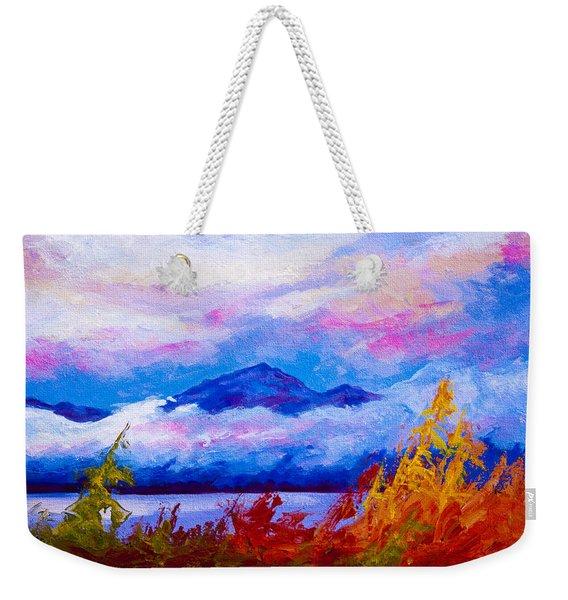 Rythmn Of The Arctic Weekender Tote Bag