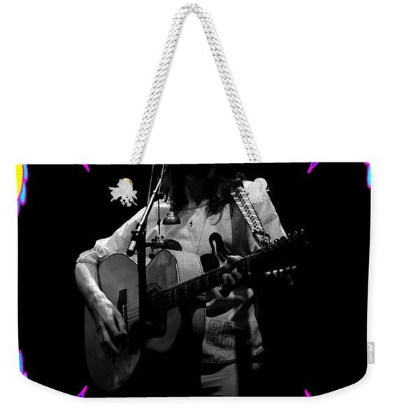 S#14 Enhanced Bw In Flower Frame Weekender Tote Bag