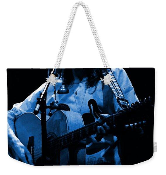 S#14 Enhanced In Blue Weekender Tote Bag