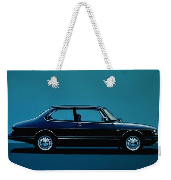 Saab 90 1985 Painting Weekender Tote Bag