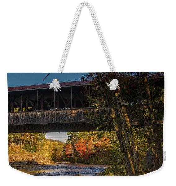 Saco River Covered Bridge Weekender Tote Bag