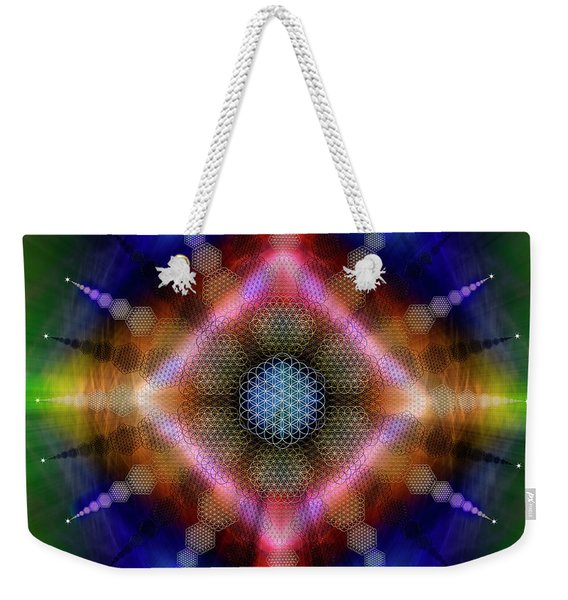 Sacred Geometry 645 Weekender Tote Bag