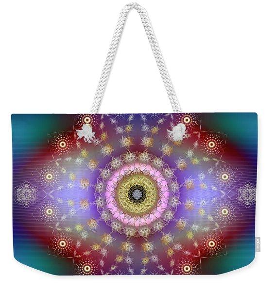 Sacred Geometry 650 Weekender Tote Bag