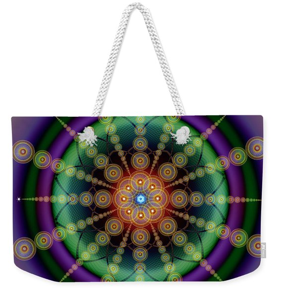 Sacred Geometry 652 Weekender Tote Bag