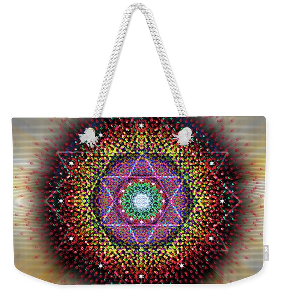 Sacred Geometry 657 Weekender Tote Bag
