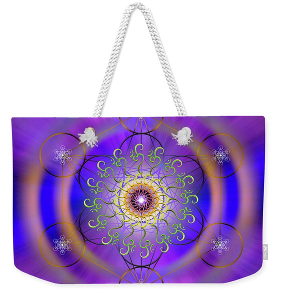 Sacred Geometry 658 Weekender Tote Bag