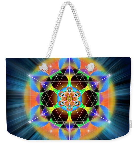 Sacred Geometry 709 Weekender Tote Bag