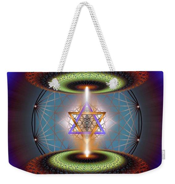 Sacred Geometry 718 Weekender Tote Bag