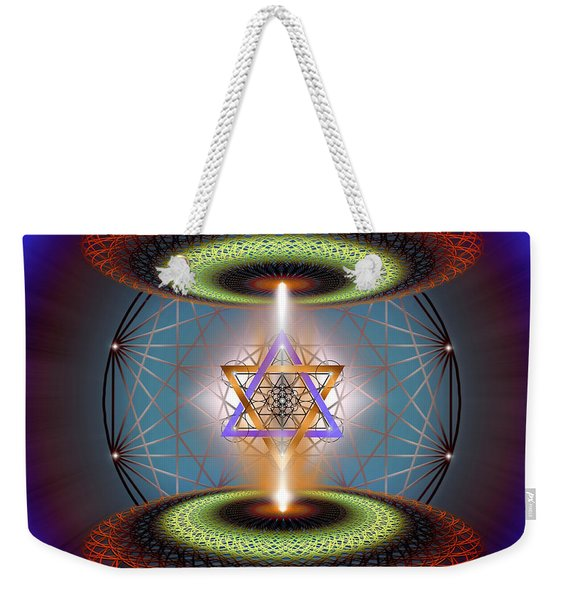 Sacred Geometry 718 Weekender Tote Bag
