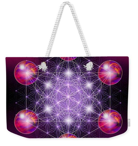 Sacred Geometry Metatron Weekender Tote Bag