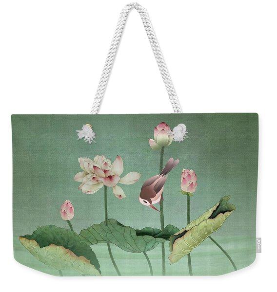 Sacred Lotus Flower Weekender Tote Bag