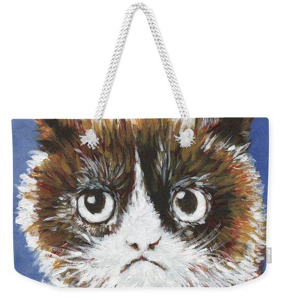 Sad Cat Weekender Tote Bag