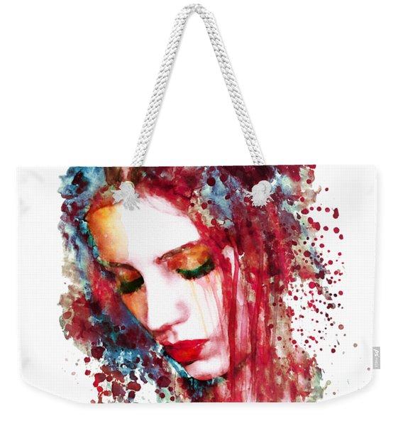 Sad Woman Weekender Tote Bag