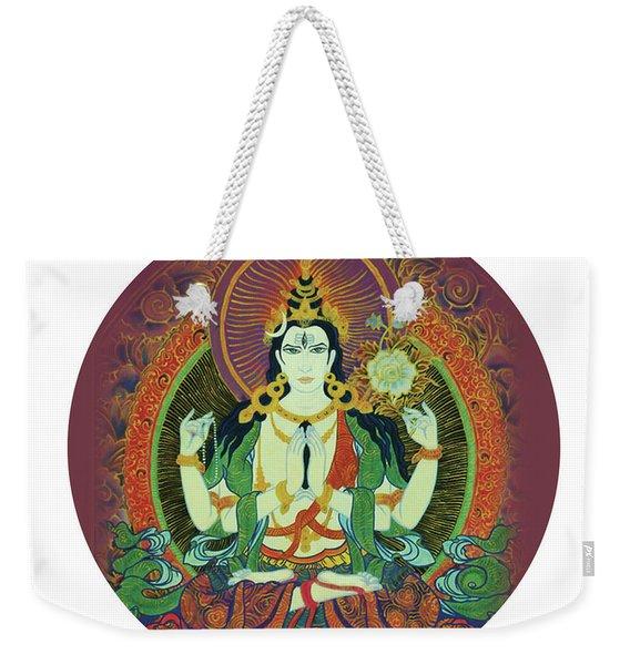 Sada Shiva  Weekender Tote Bag