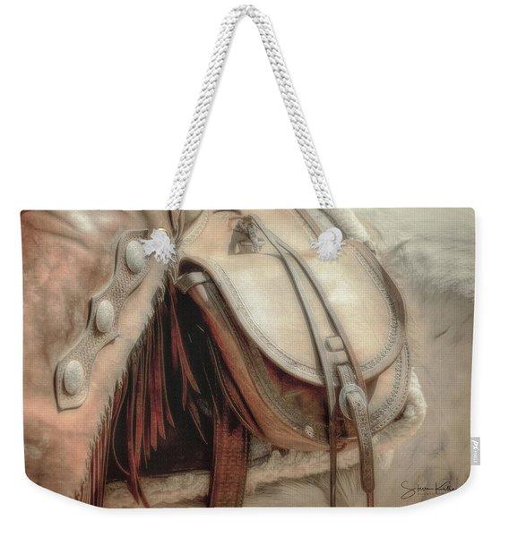 Saddle Bag Weekender Tote Bag