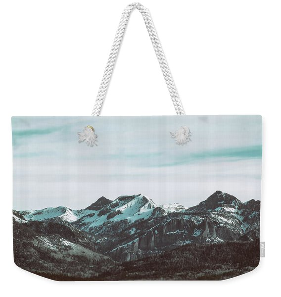 Weekender Tote Bag featuring the photograph Saddle Mountain Morning by Jason Coward