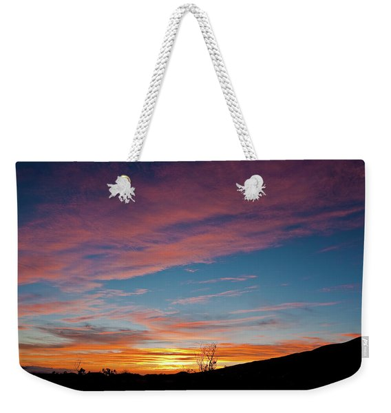 Saddle Road Sunset Weekender Tote Bag