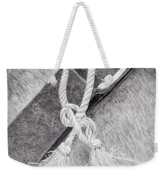 Saddle Strap Weekender Tote Bag