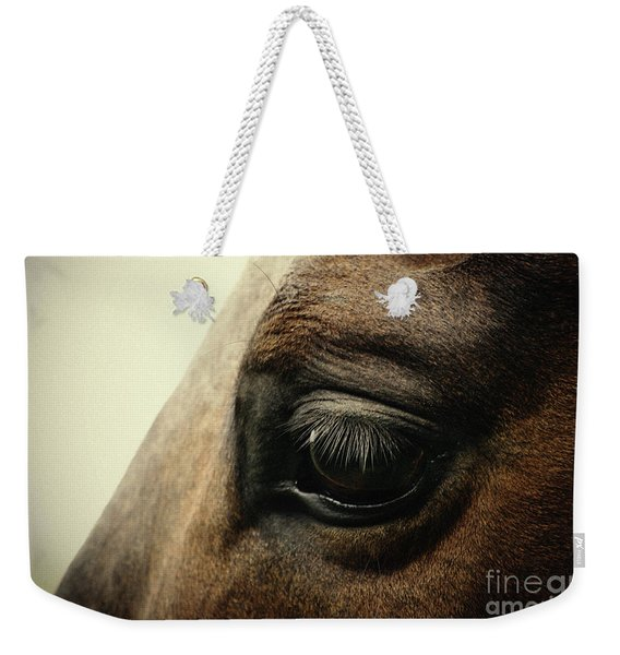 Sadness Horse Eye Weekender Tote Bag