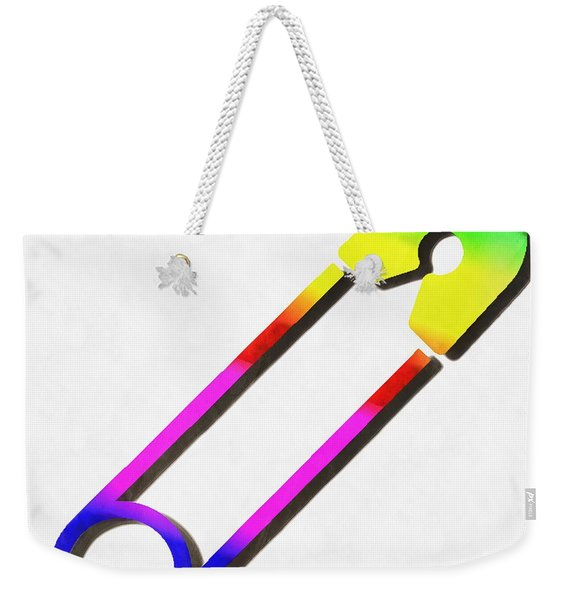 Safety Pin Rainbow Painting Weekender Tote Bag