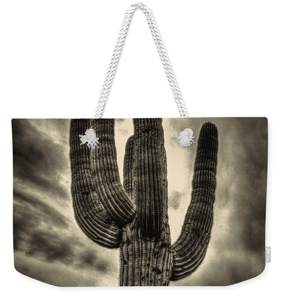 Saguaro And Storm Clouds Weekender Tote Bag