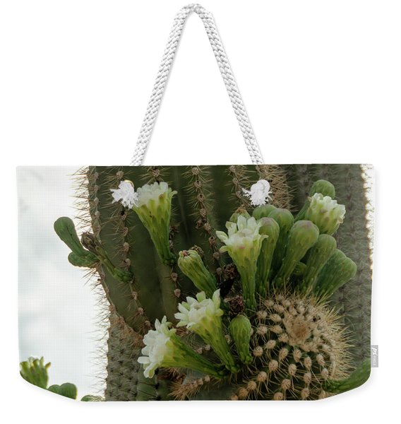 Saguaro Buds And Blooms Weekender Tote Bag