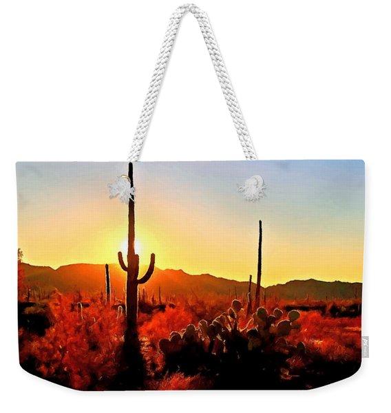 Saguaro National Park Sunset Weekender Tote Bag